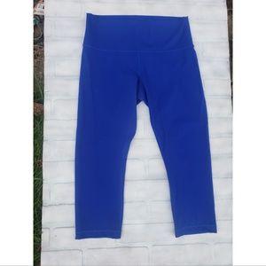Lululemon Athletica Blue HR Crop
